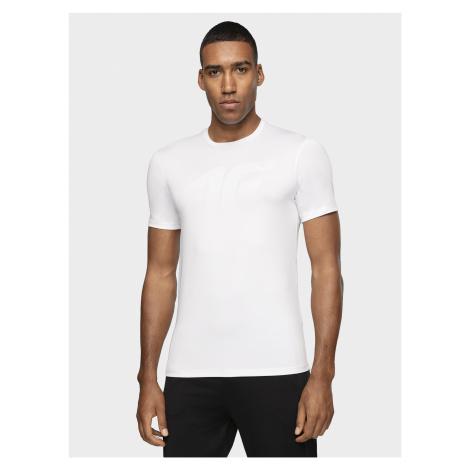 Pánske tréningové tričko TSMF004 - biela 4F