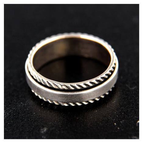 Strieborný prsteň 14753