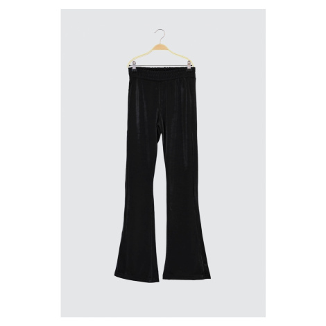 Trendyol Black Shiny Fabric Sports Pants