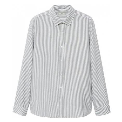 MANGO MAN Košeľa 'Kodak'  biela / sivá