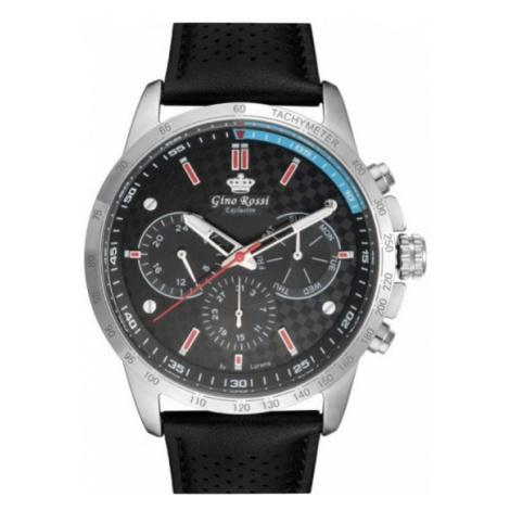 Pánske hodinky striebornej farby Gino Rossi E10210A-1A1