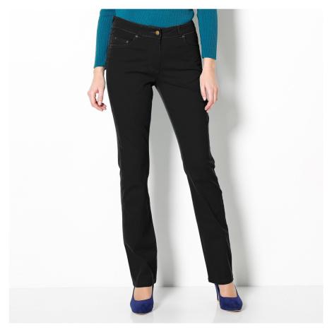 Blancheporte Strečové rovné nohavice čierna