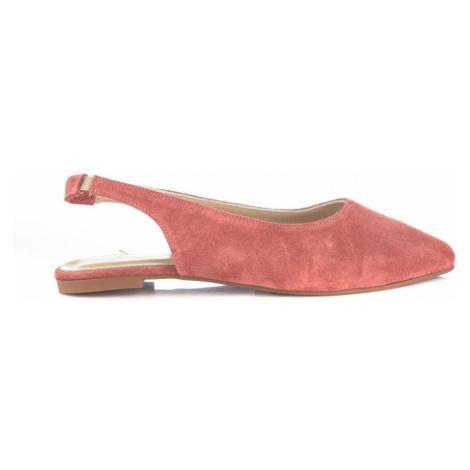 Trendyol Coral Genuine Leather Suede Women Babet