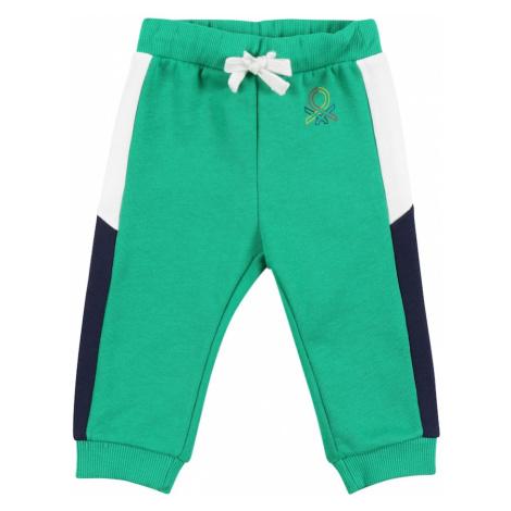 UNITED COLORS OF BENETTON Nohavice  zelená / biela / námornícka modrá