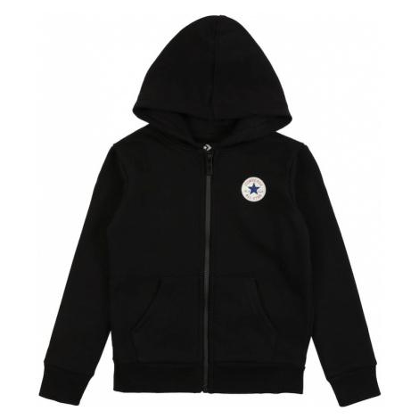 CONVERSE Tepláková bunda  čierna