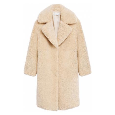 MANGO Zimný kabát 'Rizos'  krémová