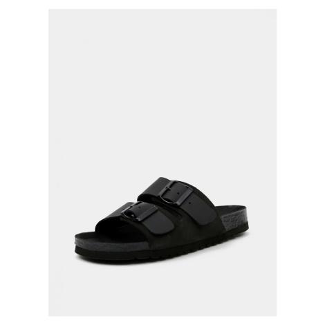 Black leather slippers VERO MODA Carla