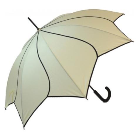 Blooming Brollies Dámsky palicový vystreľovací dáždnik Beige Swirl EDSSWB E