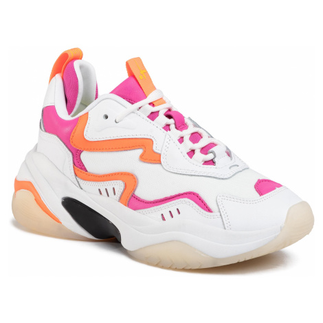 Sneakersy TAMARIS - 1-23738-24 Wht/Neon Comb 121
