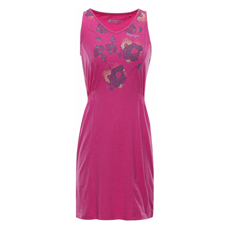 Alpine Pro šaty Vica LSKN152415PB fuchsiová ružová