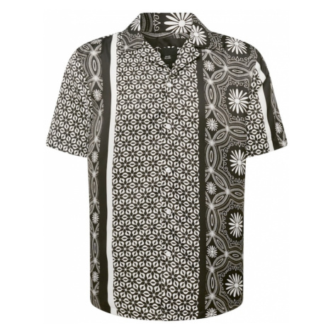 River Island Košeľa  čierna / biela