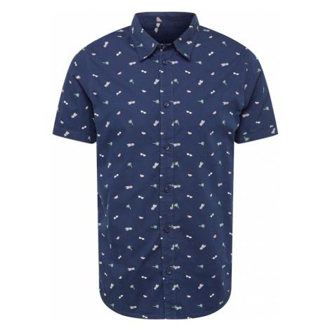Cars Jeans Košeľa 'SULTONO'  námornícka modrá / svetlozelená / ružová / biela