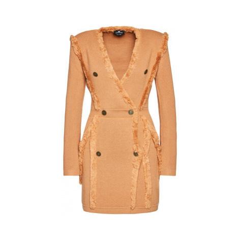 Elisabetta Franchi Úpletové šaty AM-70S-07E2-V469 Ružová Slim Fit