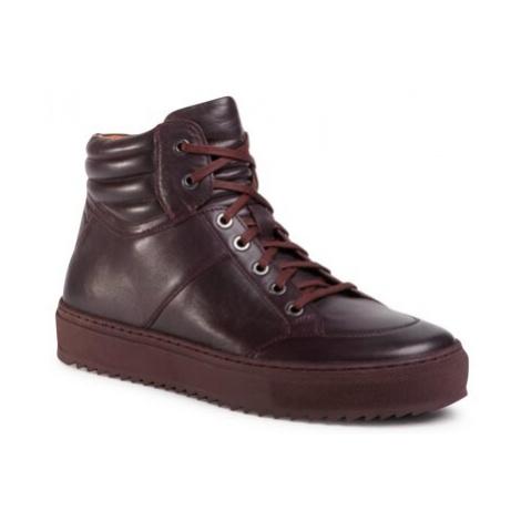 Šnurovacia obuv Gino Rossi MI08-C798-800-02 Prírodná koža(useň) - Lícova