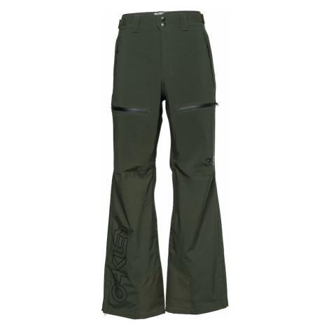 OAKLEY Outdoorové nohavice  čierna / tmavozelená