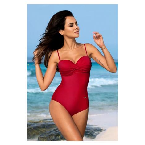 Červené jednodielne plavky Karen Gabbiano
