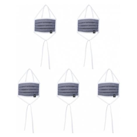 Grubenhelden Látkové rúško '5er Pack'  modrá / biela