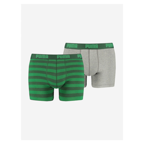 Boxerky Puma Stripe 1515 Boxer 2 Pack Zelená