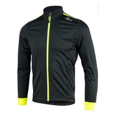 Softshellová bunda Rogelli PESARO 003.045 čierno-reflexná žltá