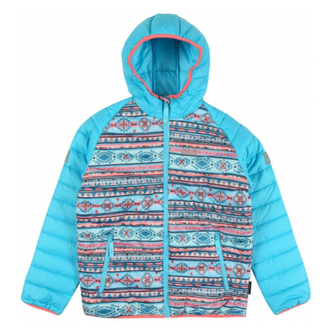 JACK WOLFSKIN Outdoorová bunda 'ZENON'  tyrkysová / zmiešané farby