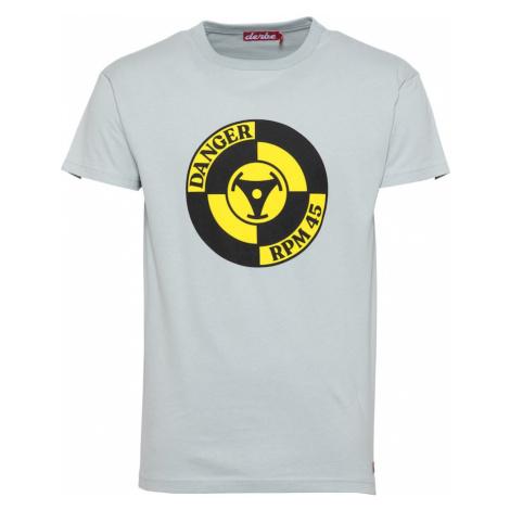 Derbe Tričko  žltá / čierna / svetlosivá