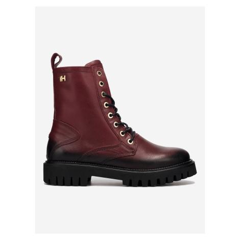 Shaded Leather Kotníková obuv Tommy Hilfiger Červená