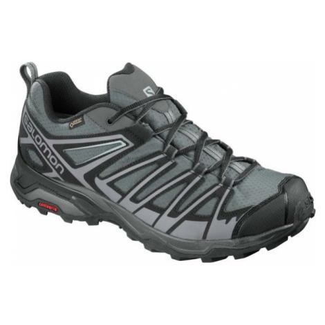 Salomon X ULTRA 3 PRIME GTX šedá - Pánska hikingová obuv