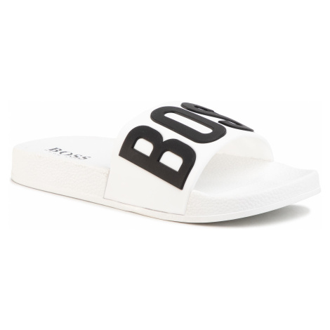 Šľapky BOSS - J29202 D White 10B Hugo Boss