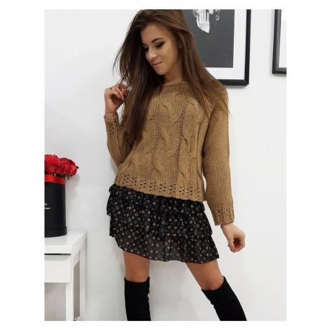 Dámsky kamelový sveter my0683