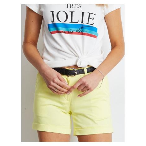 Women´s light yellow shorts