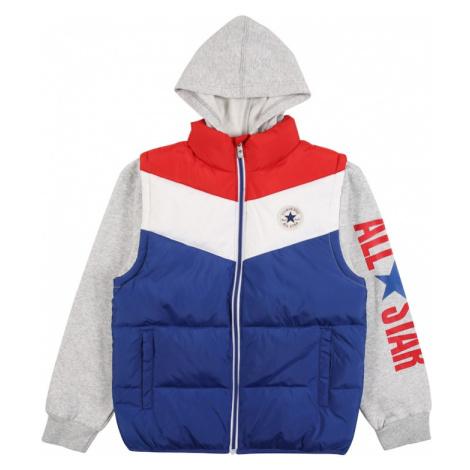 CONVERSE Prechodná bunda 'ALLSTAR'  modrá / biela / červená / sivá