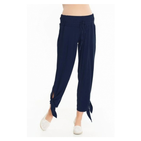 Tehotenské nohavice Teris tmavo modré