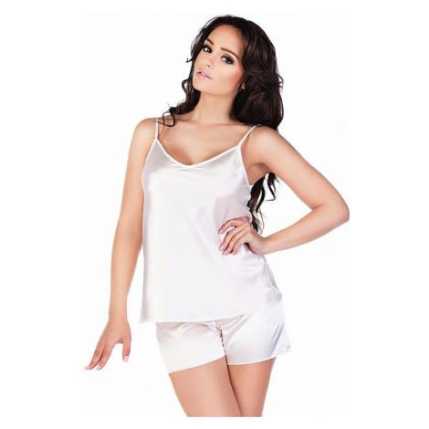 Dámske saténové pyžamo Classic biele De Lafense
