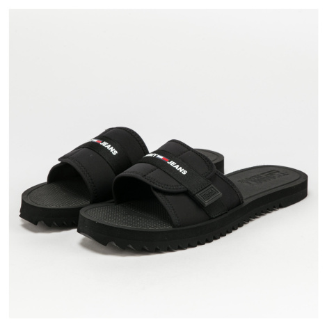 TOMMY JEANS Slip On Tech Sandal black / red Tommy Hilfiger