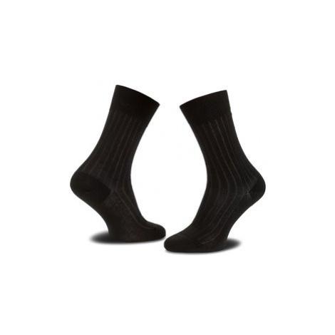 Joop! Vysoké pánske ponožky Socke Two Tone Ler 900.026_1 Čierna