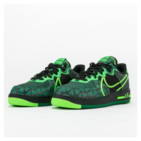 Nike Air Force 1 React QS black / green strike - pine green