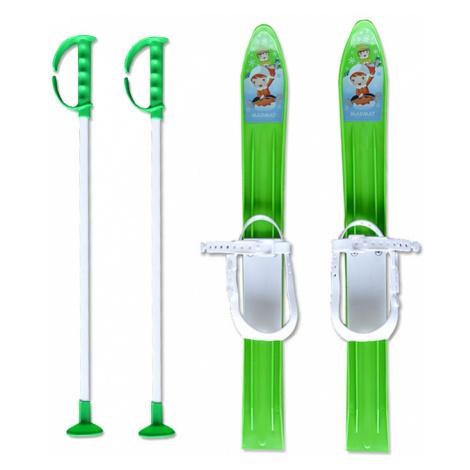 Baby Ski 60 cm - detské plastové lyže - zelené
