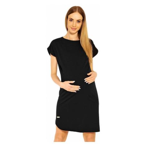 Tehotenské šaty Terry čierne PeeKaBoo