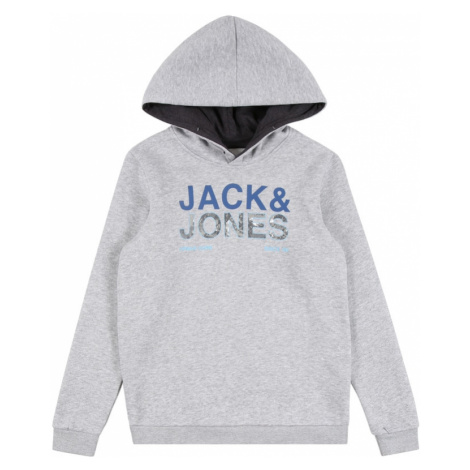 Jack & Jones Junior Mikina 'Art'  sivá melírovaná / dymovo modrá / svetlomodrá / modrosivá