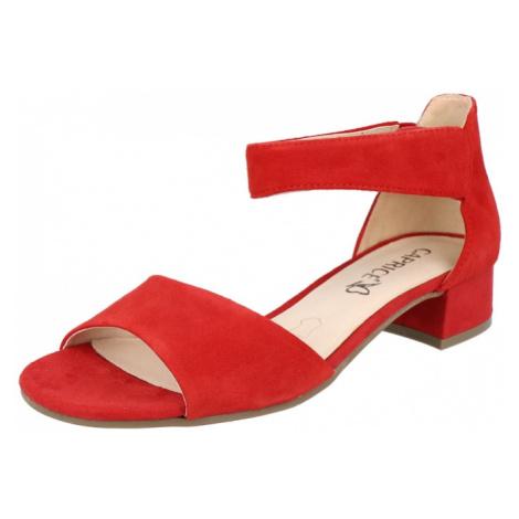 CAPRICE Remienkové sandále  červená