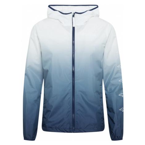 HOLLISTER Prechodná bunda  biela / tmavomodrá / modrá