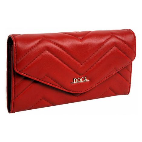 Dámska peňaženka Doca 65015 - červená