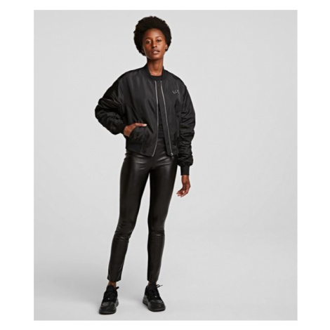 Legíny Karl Lagerfeld Metallic Faux Stretch Leggings