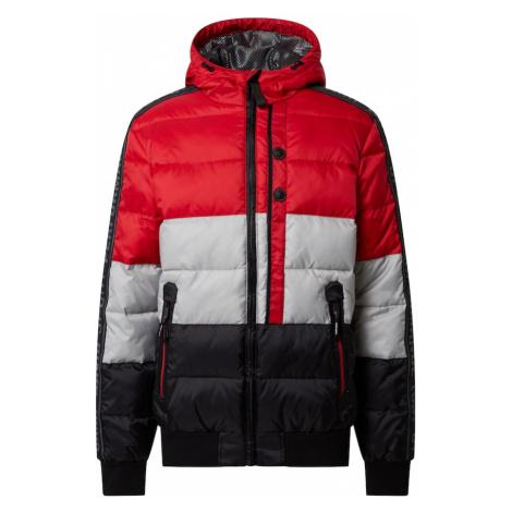 CAMP DAVID Zimná bunda  biela / čierna / krvavo červená