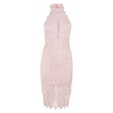 Bardot Sleeveless Halter Neck Embroidred Gemma Dress Blush