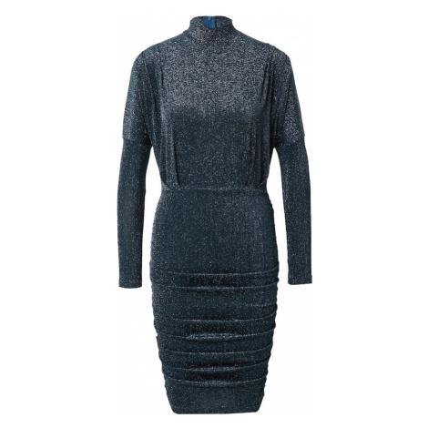 AX Paris Kokteilové šaty  tmavomodrá / strieborná