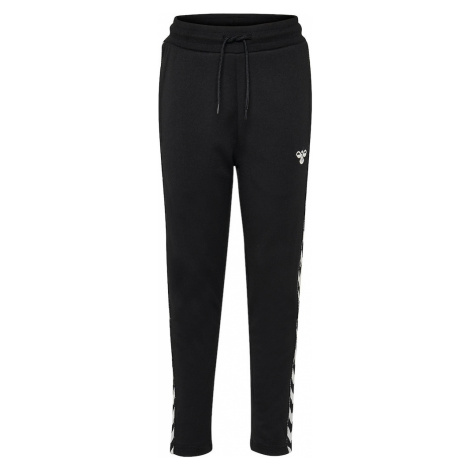 Hummel Športové nohavice  biela / čierna