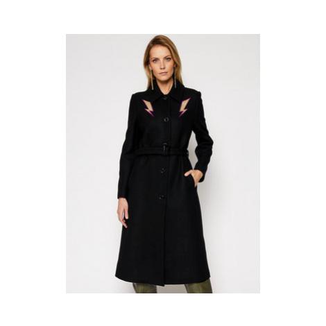 LOVE MOSCHINO Vlnený kabát WK50101T 008A Čierna Regular Fit