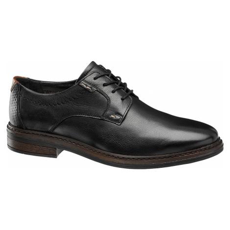 Claudio Conti - Čierna kožená spoločenská obuv Claudio Conti