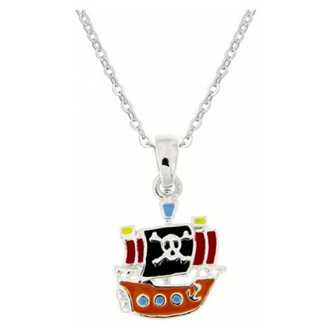 Praqia Detský strieborný náhrdelník Piráti KO8058_BR030_40_RH (retiazka, prívesok)
